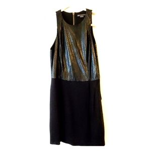 Faux snake skin black mini racerback dress